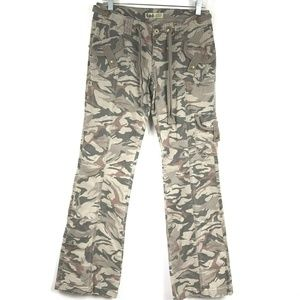Lei Cargo Pants Camouflage 32 In. Inseam Tie Waist